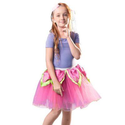 50407Hot Pink Tutu wBright Green Petals
