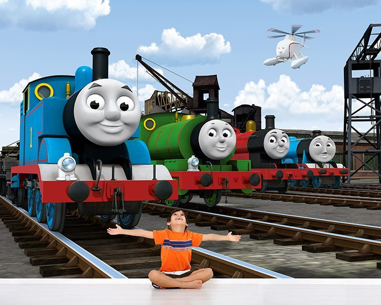 thomas the tank engine licensed wall door murals shop online now. Black Bedroom Furniture Sets. Home Design Ideas
