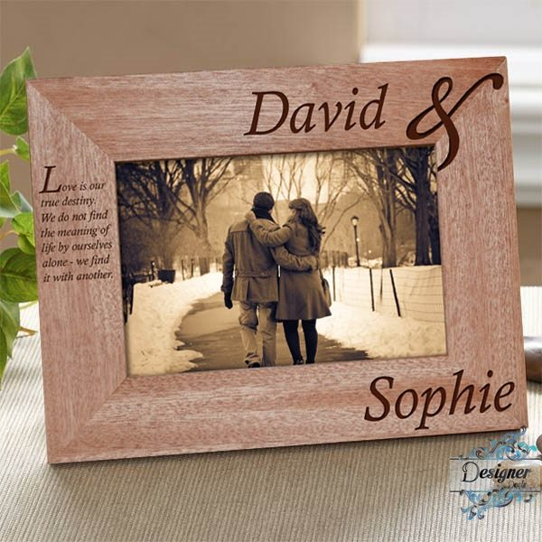 You Me Personalised Wooden Photo Frame Jasabyn