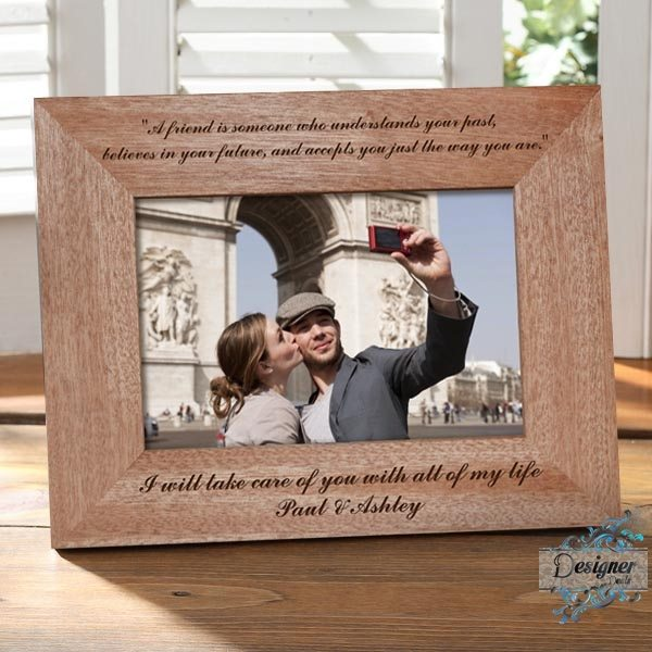 For A Special Friend You Me Personalised Wooden Photo Frame