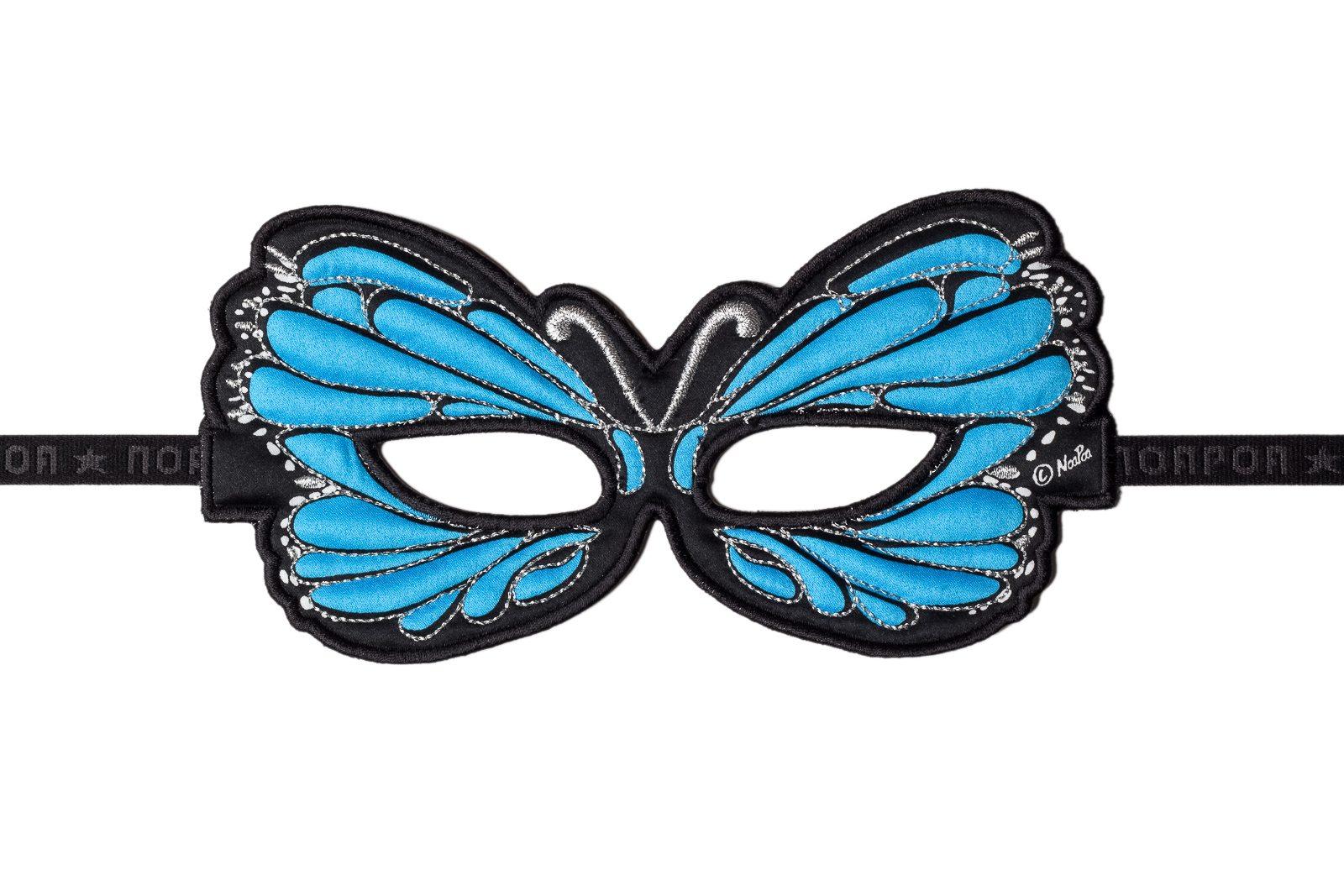 butterfly blue fabric mask jasabyn. Black Bedroom Furniture Sets. Home Design Ideas