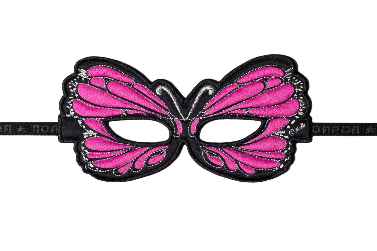 butterfly pink fabric mask jasabyn. Black Bedroom Furniture Sets. Home Design Ideas