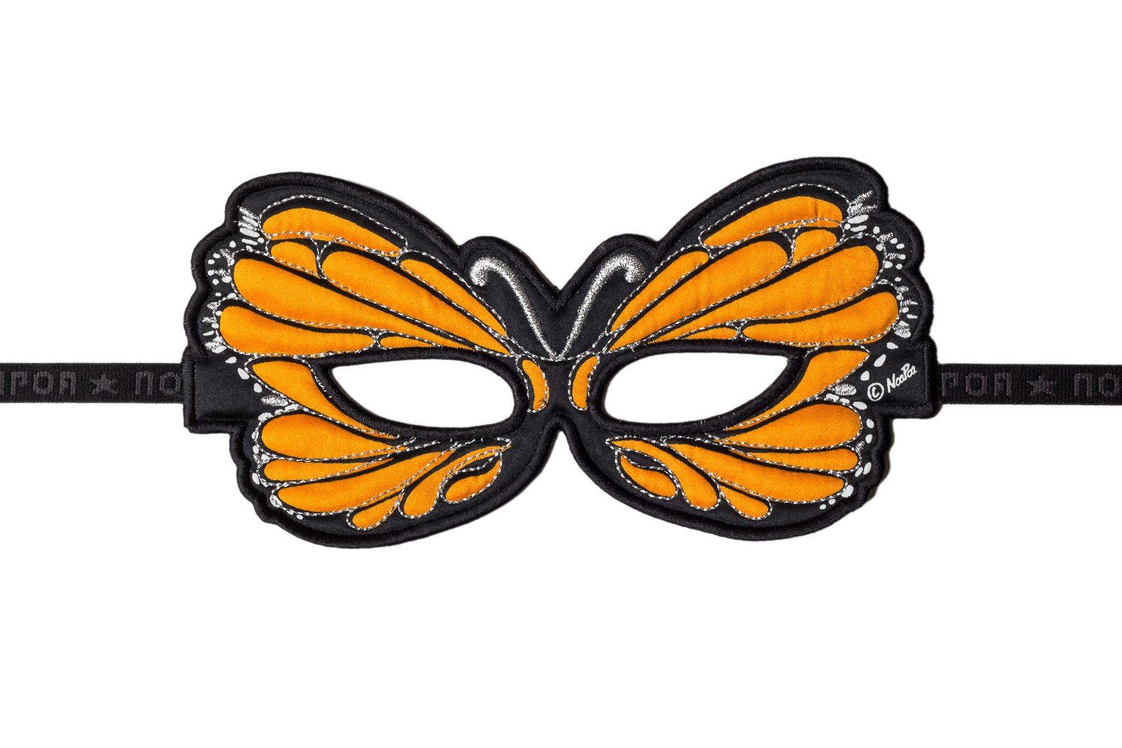 butterfly orange fabric mask jasabyn. Black Bedroom Furniture Sets. Home Design Ideas
