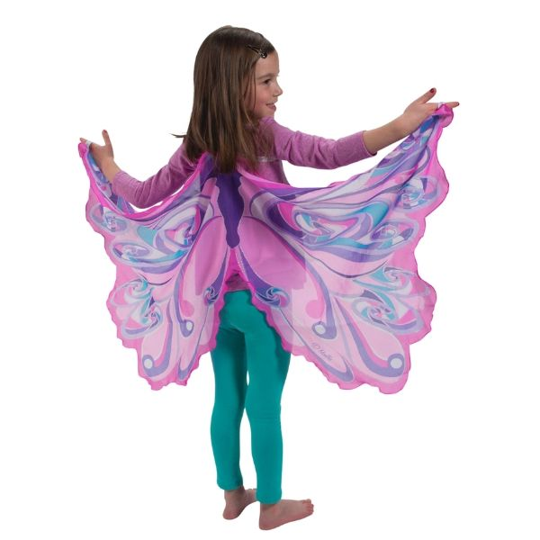 Fairy Rainbow Rosa Pink Fabric Dress Up Wings - Jasabyn