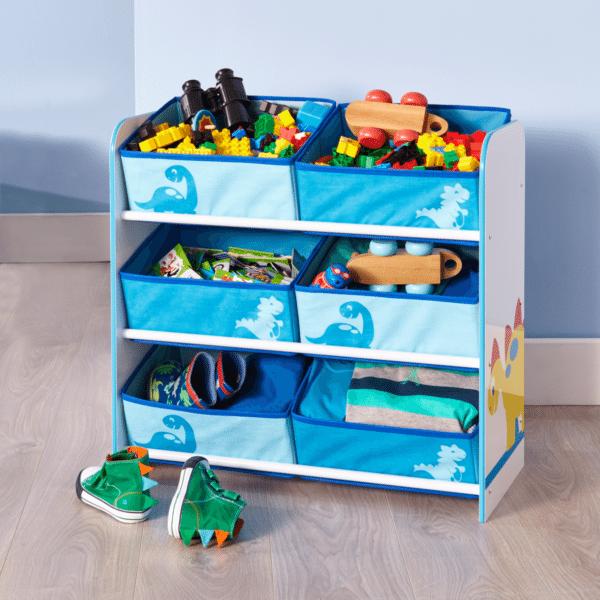 Wonderful Worlds Apart Dinosaur Toy 6 Bin Storage Nice Ideas
