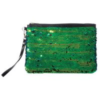 Sequin Reversible Accessory Pouch - Mermaid