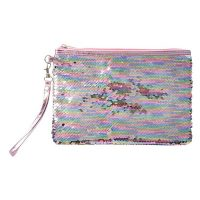 Sequin Reversible Accessory Pouch - Pearlescent