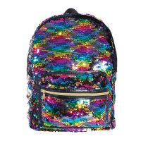 Sequin Reversible Backpack Bag - Rainbow 1